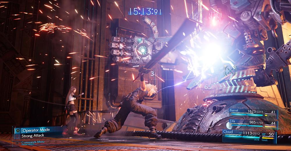Hersteller-Screenshot: Cloud im Kampf gegen einen Boss-Gegner